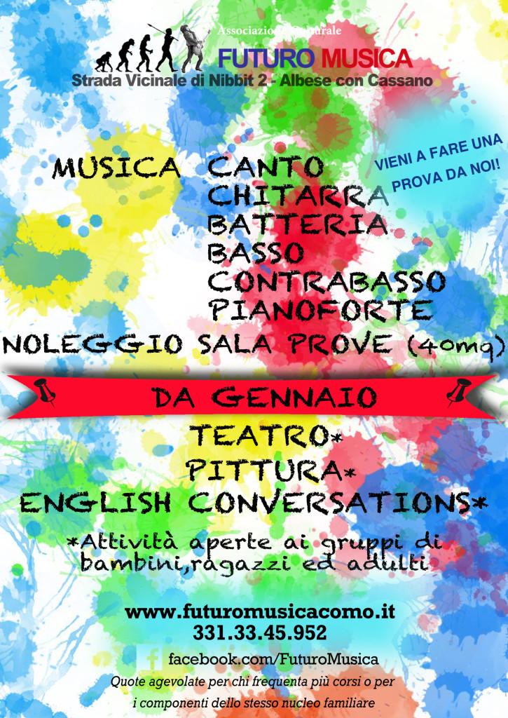 scuola musica pittura teatro